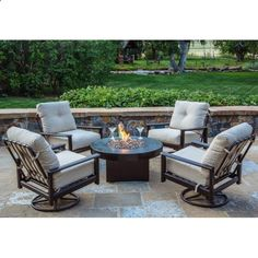 Cape Cod 5 Piece Set With Gas Fire Table   All Backyard Fun