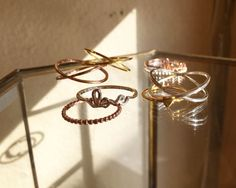 Cyclical Industry | Delicate Stacking Rings | STerling Silver, Gold, Rose Gold | Brooklyn, NYC