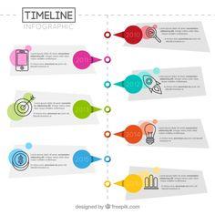 infográfico geométrica de linha do tempo Vetor grátis