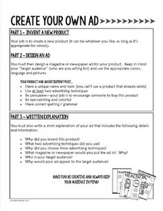 Media Literacy / Advertising Activities For older kids but could modify for elementary Visit www.advertisingte… Make more sales with effective advertising. Visual Literacy, Media Literacy, Literacy Activities, Teaching Kids, Teaching Resources, Advertising Techniques, Advertising Slogans, Business Education, Business Studies