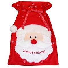Personalised Santa Sack £16.99 plus p&p.  Our Santa Sack will look perfect under the tree this Christmas. Santa's face smiling as he is filled to the brim with gifts. Personalise with a name to make it a unique and special gift this Christmas. Ho Ho Ho! Visit www.stores.ebay.co.uk/Little-Box-Gifts if you wish to purchase this product.  Product code: P0210A90 Name: 12 characters maximum