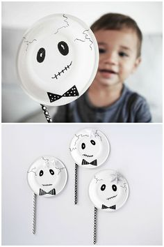 DIY Skeleton Paper Plate Mask. Easy Halloween costume for kids.