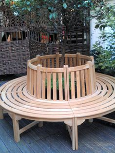 Banc de jardin circulaire en bois ORLANDO, Voici un banc de jardin ...