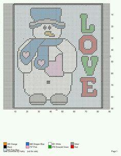 LOVE SNOWMAN by KATHY