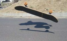 Ghost Ride The Board. Floating skateboard illusion.
