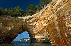 Mark Grad. Pictured Rocks. Lover's Leap.
