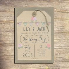 25 Country Wedding Invitations Wedding by papertreemedia on Etsy, €62.50