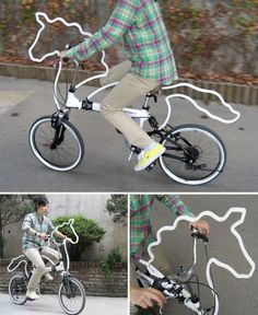 Horsecycle, maybe I could get the boys to learn to ride a bike if it looked like this:)