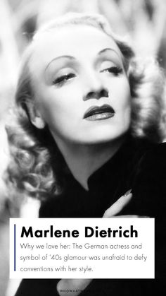 top fashion icons: Marlene Dietrich