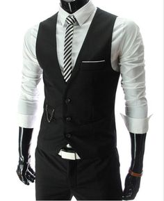New Arrival Dress Vests For Men Slim Fit Mens Suit Vest Male Waistcoat Gilet Homme Casual Sleeveless Formal Business Jacket From Dandan0215, $14.64   Dhgate.Com