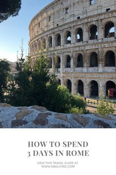 Travel guide to Rome! How to spend 3 days in Rome Italy. Where to stay, eat and what to see while you're there! 3 Days In Rome, Rome Italy, Study Abroad, Italy Travel, Travel Guide, Louvre, Vacation, Eat, Mansions