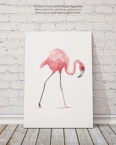 Roze Flamingo Set 2 Watercolor Paintings. Muur Decor van de kwekerij van de twee vogels. Roze Abstract schilderij cadeau idee. Flamingos aquarel illustratie Home Decor. De prijs is voor een set van 2 aquarel schilderijen zoals aangegeven op de eerste foto.  Het soort papier: Afdrukken tot (42 x 29, 7cm) 11 x 16 inch formaat worden afgedrukt op archivering Acid gratis 270g/m2 aquarel Fine Art Witboek en behoudt het uiterlijk van het originele schilderij. Grotere afdrukken worden afgedrukt op…