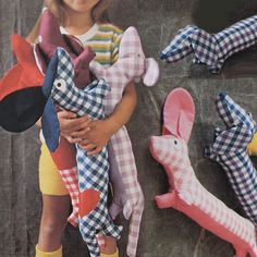 vintage SALAMI the SAUSAGE DOG (70s) - I want a bunch of these for the dog room!