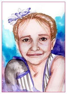 I wanted to give somebody a birthday gift. It's the least thing I could do. So I did a portrait of her daughter.     - http://ricaespiritu.com/watercolor-portrait-39-of-40-a-birthday-gift/ #AnArtworkADay, #Watercolor, #WatercolorPortraits