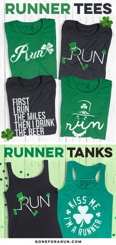 95947bb62 Run and Paddy Hard with our St. Patrick's Day Runner Tees and Tanks! Running