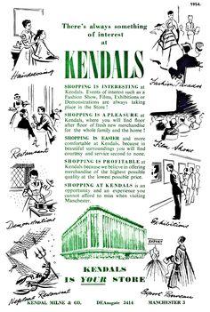 1954. Kendals advert