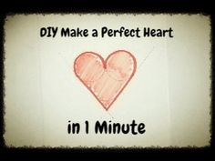 Easy and quick to draw a perfect heart