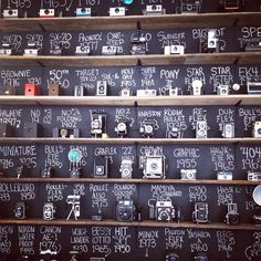 Camera wall! @Jelisa Jeffery I saw this and thought of you!!! :)