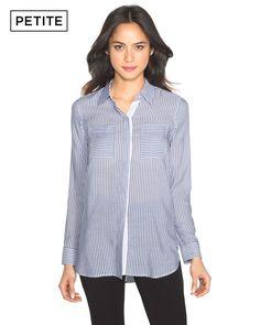 Petite Stripe Soft Shirt