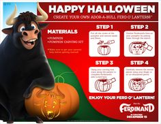 Ferdinand Halloween Printable and Activity Sheets — KindaSillyMommy Ferdinand, Craft Activities For Kids, Crafts For Kids, Pumpkin Carving Kits, Kids Tv Shows, Activity Sheets, Coloring Pages, Coloring Sheets, Happy Halloween