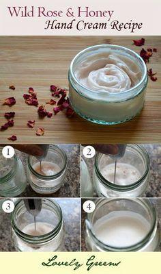 Recipe for Wild Rose  Honey Hand Cream ~ Lovely Greens