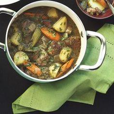 Chef John's Irish Stew  - Allrecipes.com. I would make it over 2 days, chill to remove the fat, and make the gravy thicker