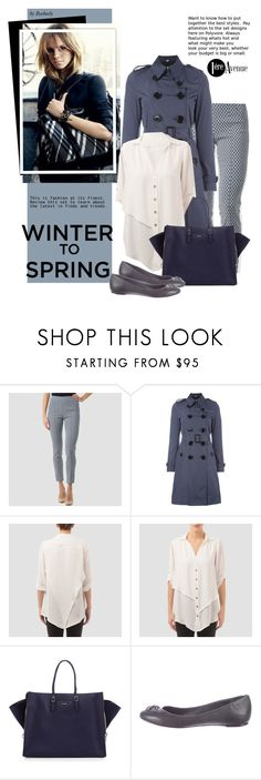 """""""Winter to Spring Street Style - Layers"""" by beebeely-look ❤ liked on Polyvore featuring Joseph Ribkoff, Burberry, Balenciaga, Christian Dior, country, StreetStyle, Wintertospring, premiereavenue, premiereavenueboutique and JosephRibkoff"""