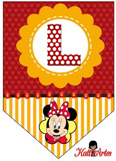 Banderines de Minnie.