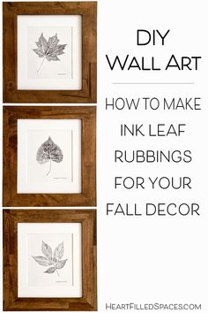 Do you enjoy fall crafts and home decor? These DIY leaf prints add the perfect touch to your autumn decorating. Learn how to create this simple, budget friendly wall art project. Fall Crafts, Crafts To Make, How To Make Ink, White Leaf, Black And White, Candle Art, Diy Home Accessories, Pumpkin Centerpieces, Autumn Decorating