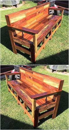 reused pallets patio bench