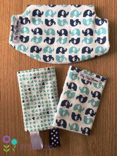 Baby Blue birds Suck/drool pads and bib for Lille Baby Carriers ...