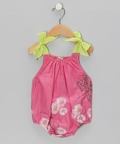Loving this Sophie Catalou Watermelon Daisy Bubble Bodysuit - Infant on #zulily! #zulilyfinds