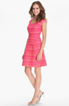 perfect for an outdoor spring wedding...  Lilly Pulitzer® 'Rylan' Stripe Fit & Flare Dress available at #Nordstrom