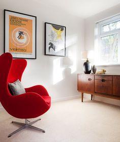 Via Desire to Inspire | Arne Jacobsen Chair | Vertigo Poster | Midcentury credenza