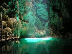Blue Lake Cave in Bonito, Mato Grosso do Sul, Brazil