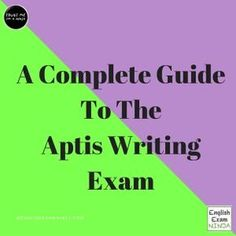 A complete guide to the Aptis Writing exam. Here you will find writing example answers, structures, and free practice exams for all four parts of the test. English Exam, English Study, Learn English, English Writing, Writing Test, Reading Test, Writing Guide, Survival Quotes, Survival Guide