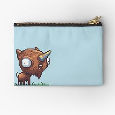 'Mutapet - Unigoat' Zipper Pouch by octolancers Iphone Wallet, Zipper Pouch, Are You The One, Chiffon Tops, Coin Purse, Printed, Awesome, People, Stuff To Buy