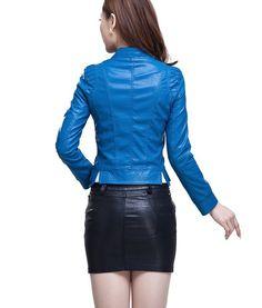 Nueva chaqueta de cuero  para mujer. chaqueta de ocio de la motocicleta