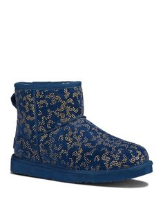 ugg classic mini metallic conifer boot