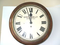 Astral Coventry Victorian Oak Case 8 Days Timepiece Enamelled Dial Wall Clock