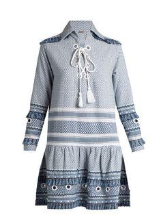 Dodo Bar Or Gadielle tassel-embellished cotton dress