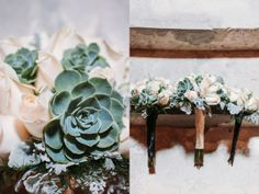 Succulent Bouquet, Blayne and Dale's Mint and Black Wedding in Kalamazoo, Michigan. » Two Birds Photography Blog