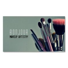 MakeUp Artist, Salon, Beauty, Cosmetologist Double-Sided Standard Business Cards (Pack Of 100)
