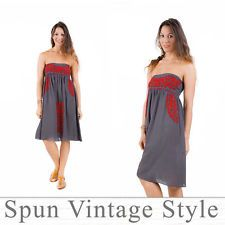 Welcome to Spun vintage style. We have lovingly made, hand embroidered clothes that woman love to wear :) Thank you for shopping by, please take your time and enjoy shopping. Mexican Bridesmaid Dresses, Embroidered Clothes, Boho Hippie, Casual Shirts, Strapless Dress, Vintage Fashion, Street Style, Summer Dresses, Grey