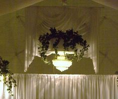 Cover up a basketball hoop at a gym wedding reception