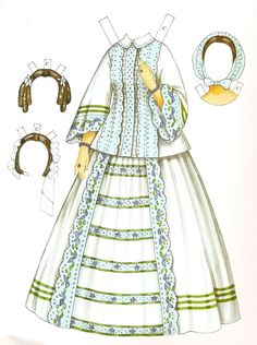 Godey's Early Victorian Fashions Paper Dolls , by Ming-Ju Sun. Victorian Paper Dolls, Vintage Paper Dolls, Victorian Era, Victorian Fashion, Edwardian Era, Paper Doll Template, Paper Dolls Printable, Free Paper, Diy Paper