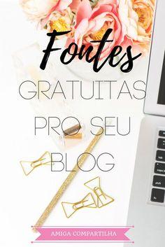 Baixe diversas fontes lindas e gratuitas para usar no seu blog ou nos seus projetos!