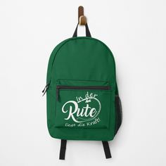"""Angler Fischer Rute liegt Kraft lustiger Spruch "" Rucksack von Luigishirts 