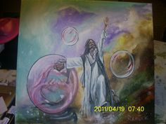 My Advocate..Painted live at Garden of Grace during worship.