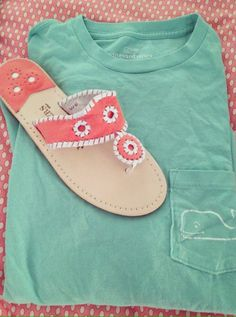 vineyard vines and jack rogers, just add nike shorts or chino shorts!